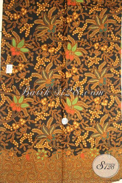 Toko Batik Kain Solo Jual Bahan Busana Berkwalitas Halus Dengan Motif Klasik Terbaru, Batik Kombinasi Tulis Cocok Untuk Kemeja Maupun Blus [K1857BT-200x110cm]