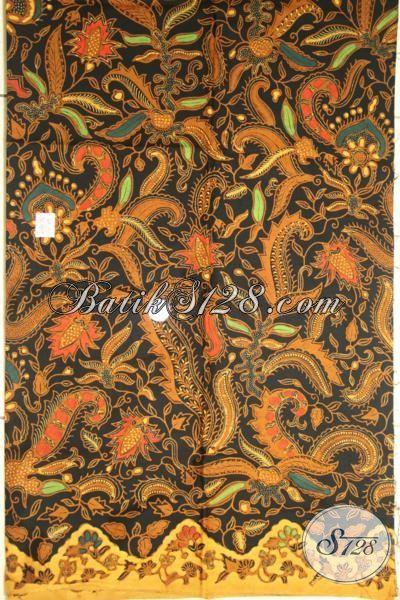 Aneka Batik Kain Buatan Solo Bahan Baju Berkwalitas Terbaik, Batik Klasik Kombinasi Tulis Pas Buat Dress Maupun Hem [K1859BT-200x110cm]