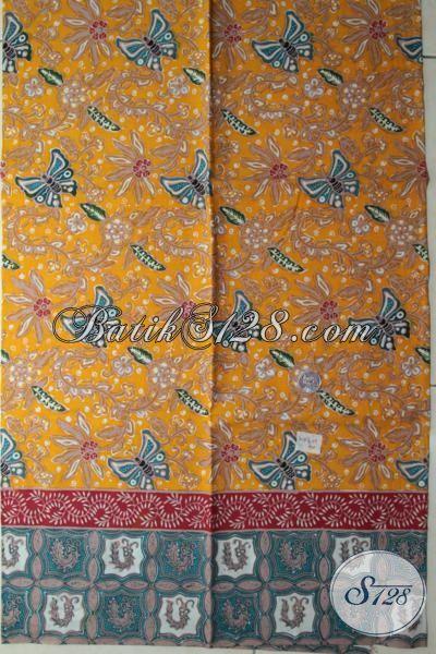 Kain Batik Warna Kuning Kombinasi Motif Lain, Batik Solo Modern Cocok Untuk Baju Santai Dan Formal Sempurnakan Penampilan Setiap Hari