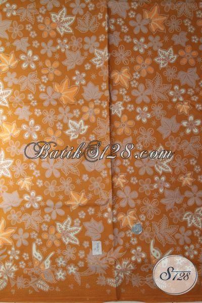 Toko Online Batik Pilihan Terlengkap Di Solo, Sedia Kain Batik Halus Terbaru Motif Paling Keren Warna Kuning Sangat Pas Untuk Dress Maupun Blus [K1886BT-240 x 110 cm]