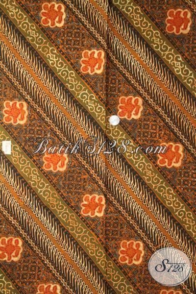 Batik Modern Sentuhan Klasik, Kain Batik Untuk Busana Kerja, Batik Jawa Cap Tulis Kwalitas Istimewa Harga Terjangkau [K1899CT-240 X 110 cm]