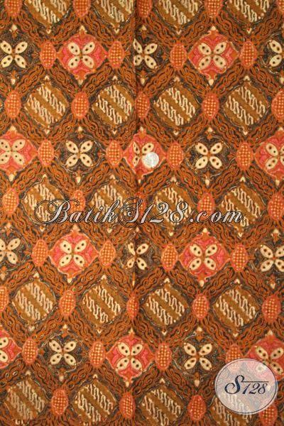 Kain Batik Jawa Unik Nan Elegan, Batik Cap Tulis Modern Berkelas Di Jual Online, Bisa Untuk Hem Maupun Dress [K1900CT-240 X 110 cm]