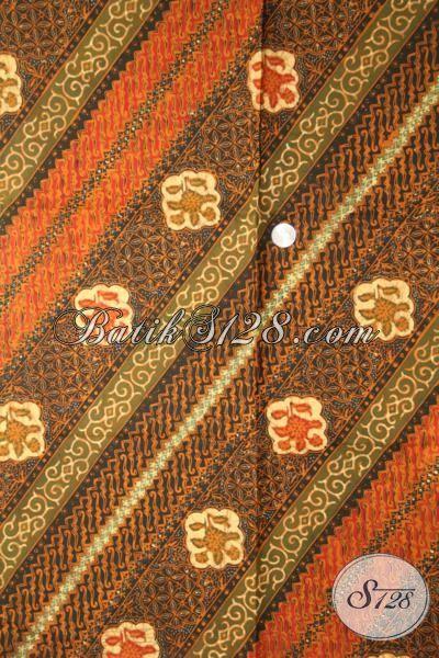 Batik Kwalitas Halus Proses Cap Tulis, Kain Batik Jawa Motif Klasik Bahan Pakaian Berkelas Dan Elegan [K1903CT-240 X 110 cm]
