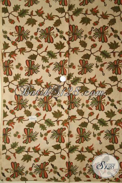 Batik Jawa Modern Motif Kupu-Kupu, Batik Kombinasi Tulis Koleksi Terbaru Toko Online Pilihat Tepat Buat Baju Kerja Dan Pesta [K1911BT-240 X 110 cm]