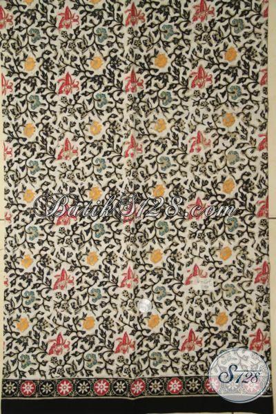 Jual Kain Batik Cap Tulis Pilihan Tepat Untuk Kemeja Pria, Batik Solo Motif Modern Kwalitas Bagus Pria Makin Percaya Diri [K1916CT-200 X 110 cm]