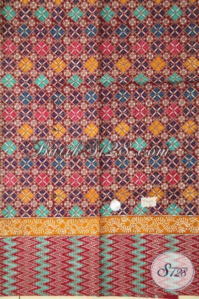 Kain Batik Koleksi Terbaru Agen Batik Solo Online, Batik Bahan Busana Terkini Lebih Halus Dengan Motif Modern Proses Cap Tulis