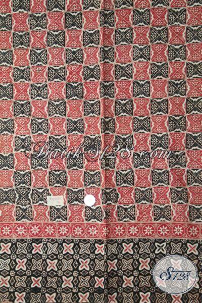 Kaian Batik Paling Keren Bahan Busana Lengan Pendek Pria, Batik Cap Tulis Motif Terbaru Membantu Penampil Cowok Makin OK [K1937CT-200X110 cm]