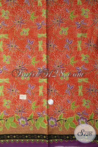 Batik Kain Warna Modern Motif Bunga Pas Banget Untuk Dress, Batik Bahan Baju Kerja Istimewa Proses Printing