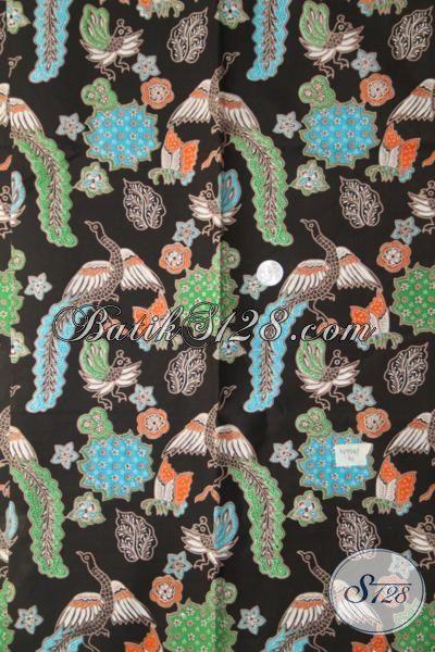Batik Elegan Bahan Kemeja Lengan Pendek, Batik Hitam Motif Unik Trend Mode 2017, Batik Print Halus Di Jual Harga Grosir