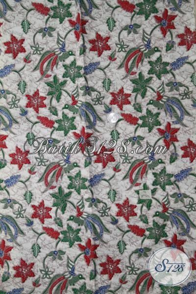 Batik Printing Murmer Kwalitas Mewah, Batik Motif Bunga Cewek Banget, Kain Batik Untuk Blus Tampil Makin Anggun
