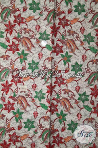 Batik Masa Kini Motif Bagus, Kain Batik Halus Proses Printing Cocok Untuk Baju Formal Dan Santai [K1964P-200 X 105 cm]