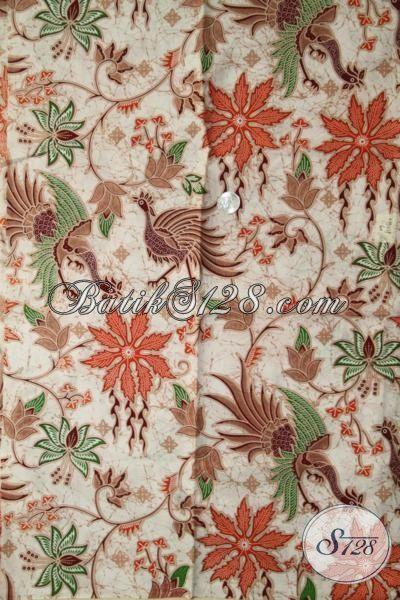 Kain Batik Bahan Baju Modis, Batik Printing Motif Bagus Warna Elegan Membuat Penampilan Semakin Paten [K1971P-200 X 105 cm]