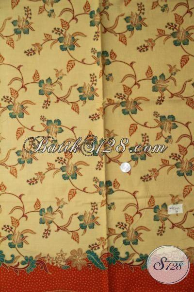 Kain Batik Halus Motif Modern Proses Print Lasem, Batik Untuk Busana Wanita Blus Maupun Dress Tampil Makin Elegan Dan Modis