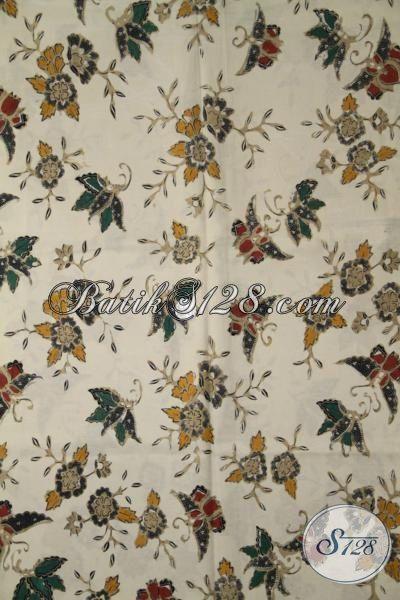 Batik Kain Motif Elegan Kombinasi Tulis, Batik Jawa Masa Kini Kwalitas Bagus, Cocok Untuk Pakaian Kerja Dan Pesta Wanita Muda