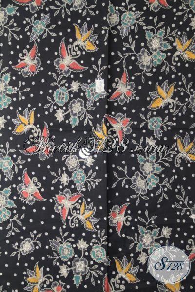 Toko Batik Online Jual Kain Batik Jawa Terbaru Motif Bunga Berpadu Warna Dasar Hitam Elegan Pas Banget Untuk Pakaian Santai Dan Pesta
