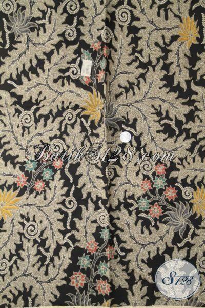 Kain Batik Jawa Klasik Bahan Busana Pria Desain Formal, Batik Tradisional Kombinasi Tulis Masa Kini Cocok Juga Untuk Blus