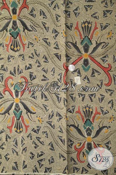 Kain Batik Jawa Tengah Khas Solo Motif Klasik, Batik Pisang Bali Warna Bagus Dan Mewah Kwalitas Halus Kombinasi Tulis