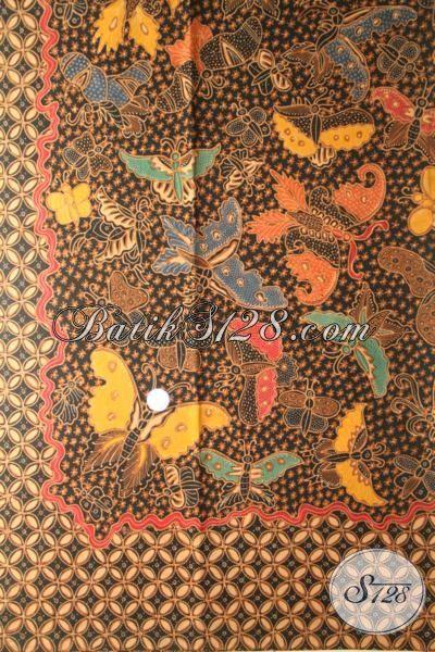 Kain Batik Tulis Tangan Istimewa Halus Dan Modern, Bahan Pakaian Atasan Wanita Muda Dan Dewasa Motif Kupu-Kupu Tampil Lebih Mewah