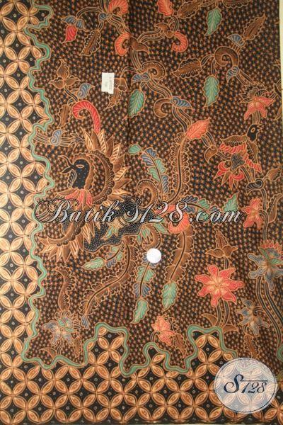 Jual Online Batik Tulis Soga Buatan Solo, Kain Batik Mewah Bahan Kemeja Khas Pejabat, Batik Premium Harga Mahal Halus Dan Adem [K2002TS-240×110 cm]