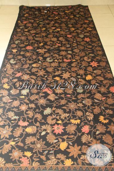 Batik Kain Motif Bunga Kwalitas Mewah, Batik Mahal Bahan Baju Atasan Untuk Wanita Modern Tampil Makin Mempesona