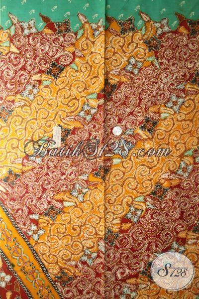 Kain Batik Modern Desain Klasik, Batik Bahan Busana Mewah Proses Tulis, Batik Jawa Premium Untuk Baju Kerja Pejabat Dan Para Executive