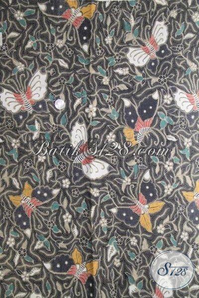 Kain Batik Motif Kupu-Kupu, Batik Solo Modern Bahan Pakaian Berkwalitas Bagus Halus Dan Adem Proses Kombinasi Tulis [K2010BT-240×110 cm]