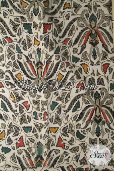 Kain Batik Pisang Bali Buatan Solo, Bahan Busana Batik Kombinasi Tulis Motif Klasik, Cocok Untuk Busana Formal [K2011BT-240×110 cm]
