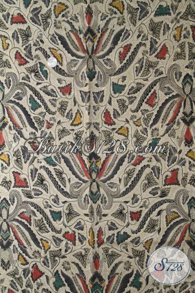 Batik Klasik Pisang Bali, Batik Elegan Bahan Busana Kerja, Batik Berkela Kombinasi Tulis Untuk Pakaian Formal