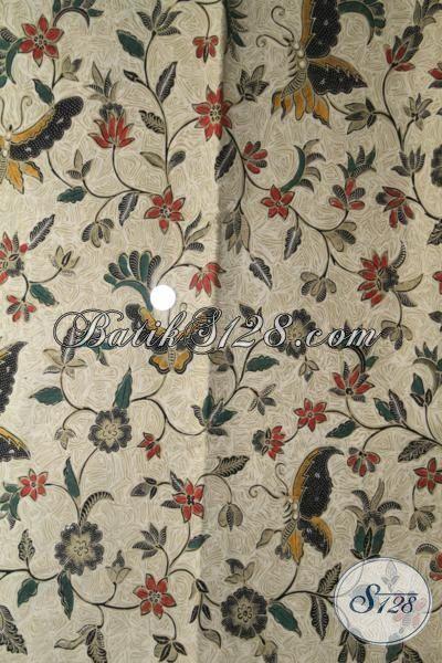Koleksi Terbaru Kain Batik Toko Online Solo, Batik Jawa Modern Bahan Baju Atasan Wanita Muda Dan Dewasa Proses Kombinasi Tulis Halus Dan Adem [K2027BT-240×110 cm]