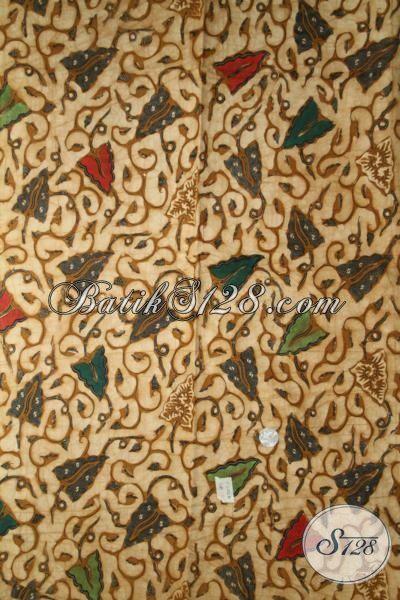 Jual Kain Batik Klasik Kombinasi Tulis, Batik Halus Bahan Pakaian Formal Dan Santai Motif Lumbu Soga Kwalitas Premium [K2032BT-240 x 110 cm]