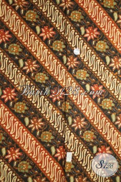 Batik Kain Modern Klasik Motif Parang Bunga, Batik Etnik Berkelas Cocok Untuk Baju Pesta Cowok Maupun Cewek