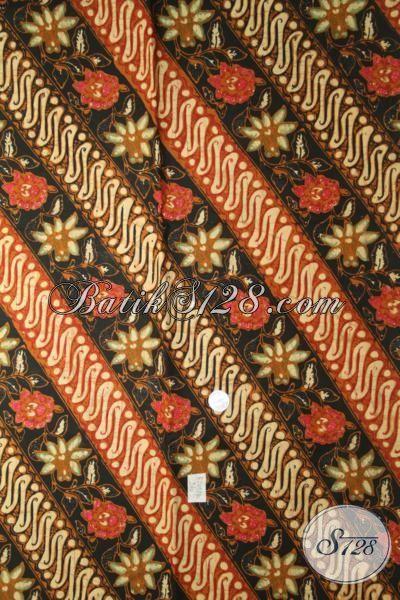 Jual Online Batik Kain Parang Bunga Dengan Kombinasi Warna Elegan nan Mewah, Batik Kombinasi Tulis Khas Solo Modern Dan Fashionable
