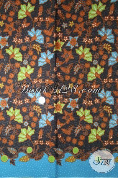 Batik Printing Halu Motif Bunga Berpadu Warna Biru Nan Elegan, Cocok Banget Untuk Blus Santai Dan Kerja