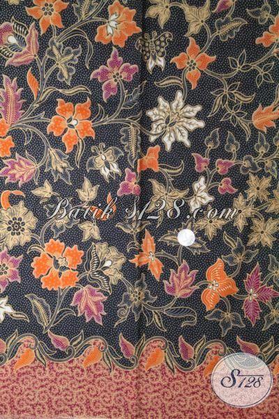 Batik Murah Bahan Busana Dengan Kwalitas Bagus, Batik Kain Halus Motif Bunga Dengan Warna Elegan Trend Terkini