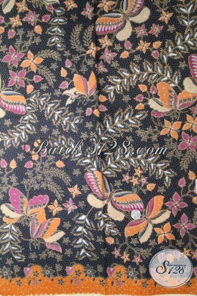 Batik Kupu Bunga Proses Printing Keren Dan Berkelas, Cocok Buat Busana Formal Dan Santai Harga Murmer