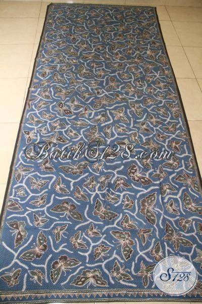 Kain Batik Klasik Kupu Sinebar, Batik Halus Tulis Tangan Asli Buatan Pengerajin Kampung, Cocok Untuk Kemeja Maupun Blus Tampil Mewah