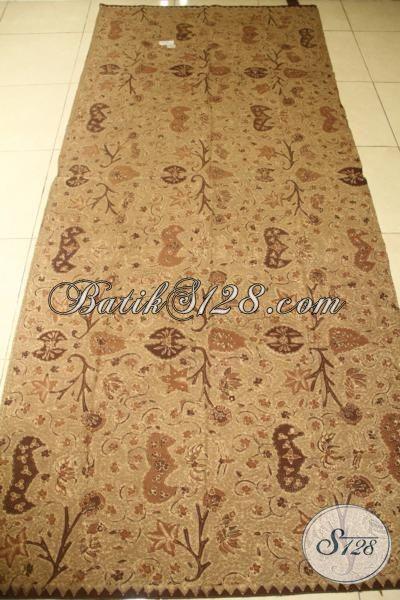 Batik Klasik Warna Coklat Motif Wahyu Tumurun, Batik Tulis Halus Pewarna Alam Lebih Halus Dan Adem, Bisa Untuk Baju Kerja Dan Kondangan