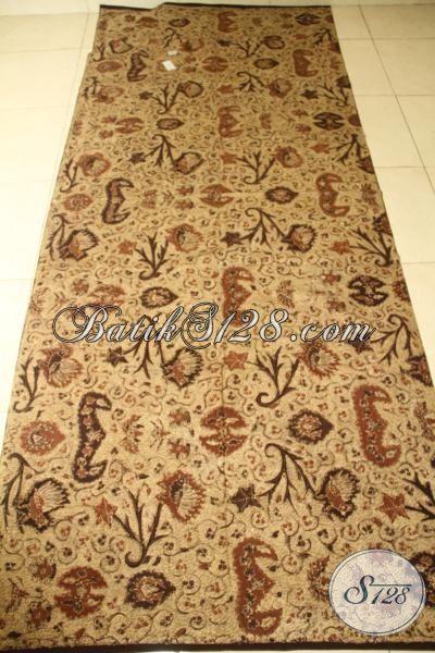 Batik Kain Wahyu Tumurun Coklat Klasik, Batik Untuk Pakaian Pria Dan Wanita Proses Tulis Tangan Warna Alami Mewah Serta Fashionable