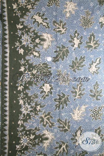 Toko Batik Jawa Online, Jual Produk Kain Batik Premium Terbaru Motif Godhong Tales, Batik Mewah Pewarna Alam Bisa Untuk Dress Dan Hem