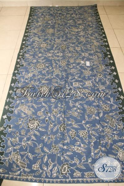 Kain Batik Keren Dan Mewah, Batik Jawa Halus Motif Burung Hong, Batik Modern Klasik Tulis Tangan Pewarna Alam, Cocok Untuk Pakaian Kerja [K2067TAMH-250 x 100 cm]