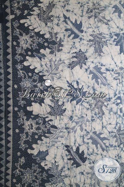 Batik Bahan Baju Santai Dan Formal Kwalitas Mewah, Kain Batik Tulis Pewarna Alami Halus Lembut Motif Daun Pepaya