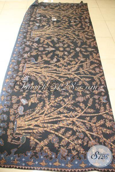 Batik Kain Modis Bahan Busana Keren Dan Mewah, Batik Solo Pewarna Alami Motif Pring Sedapur, Batik Mewah Membuat Penampilan Makin Berkelas [K2073TAMH-250 x 100 cm]