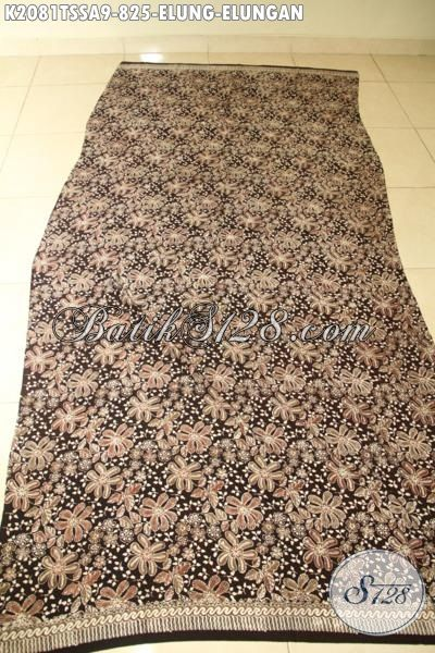 Jual Bahan Pakaian Batik Berkwalitas Tinggi, Kain Batik Tulis Pewarna Alam Motif Elung-Elungan, Batik Sutra Jawa Etnik Nan Mewah Di Jual Online