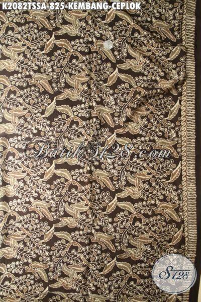 Di Jual Online Kain Batik Premium Motif Kembang Ceplok, Batik Jawa Mewah Kain Sutra Motif Klasik Proses Tulis Warna Alam Untuk Busana Executive