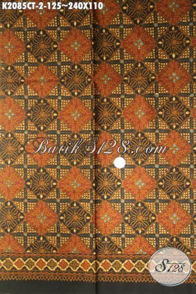 Batik Keren Warna Klasik Motif Terbaru Proses Cap Tulis, Kain Batik Bahan Kemeja Pria Elegan Harga Terjangkau