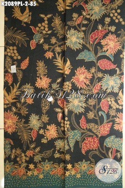 Kain Batik Modern Motif Bunga Kwalitas Halus, Batik Printing Keren Dan Berkelas Bahan Blus Dan Dress Wanita Muda Dan Dewasa Tampil Mempesona