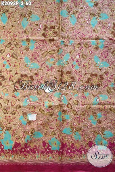 Jual Batik Motif Trendy Buatan Solo Bahan Busana Wanita Masa Kini, Kain Batik Warna Elegan Proses Printing Kwalitas Bagus Harga Murmer [K2093P-200×110 cm]