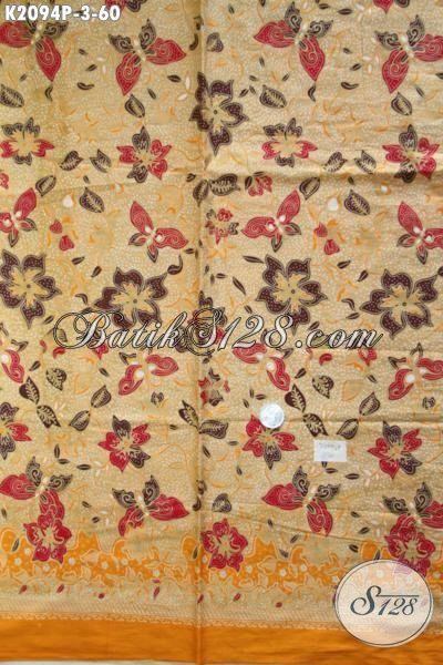 Sedia Kain Batik Modern Halus Proses Printing Harga Murmer, Batik Jawa Masa Kini Trend Model Terkini Bahan Pakaian Wanita Muda Dan Dewasa