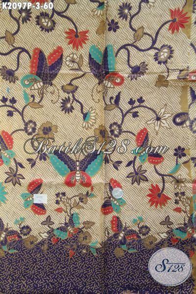 Batik Solo Printing Kwalitas Bagus Dengan Motif Terbaru Yang Trendy Serta Fashionable, Cocok Untuk Bahan Busana Kerja Wanita Karir