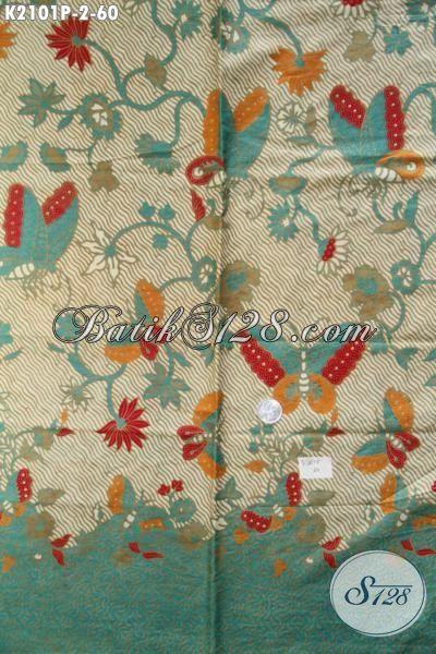 Sedia Kain Batik Modern Motif Keren Kwalitas Halus, Batik Printing Masa Kini Modis Untuk Blus Dan Bagus Buat Dress Harga Sangat Terjangkau [K2101P-200×110 cm]